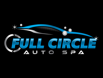 full circle auto spa logo design winner