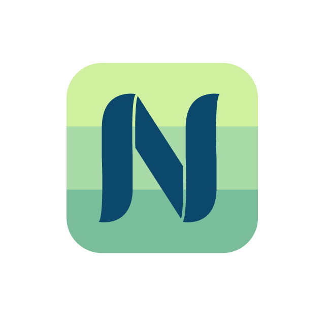 Nius - iPhone App Icon logo design
