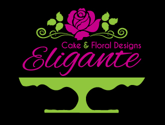 Eligante Cake and Floral Designs logo design