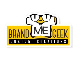 BRAND ME GEEK logo design