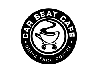 Car Seat Cafe - Drive thru Coffee logo design