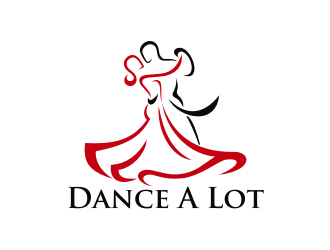 Dance A Lot Ballroom Studio logo design