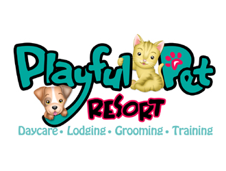 Playful Pet Resort logo design