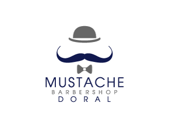Doral Barbershop logo design