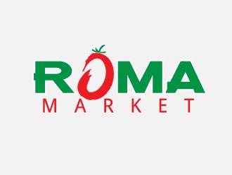 Roma Market logo design