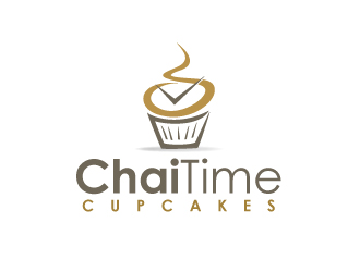 Cupcakes and Chai logo design