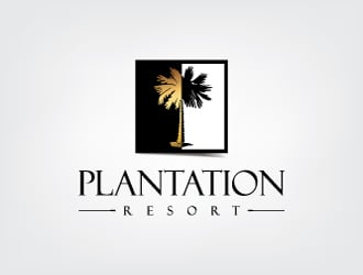 Plantation Resort logo design