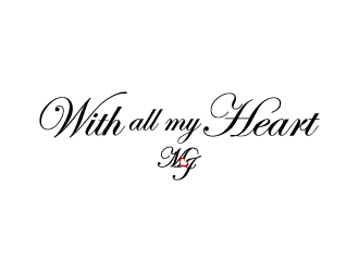 With all my heart logo design