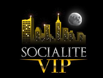 Socialite VIP logo design