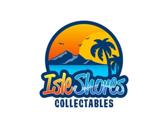 Isle Shores Collectables logo design