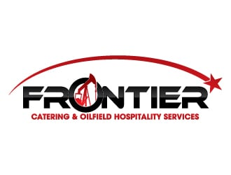 frontier catering oilfield hospitality servi logo design rh 48hourslogo com oilfield logistics services oilfield logos for business cards