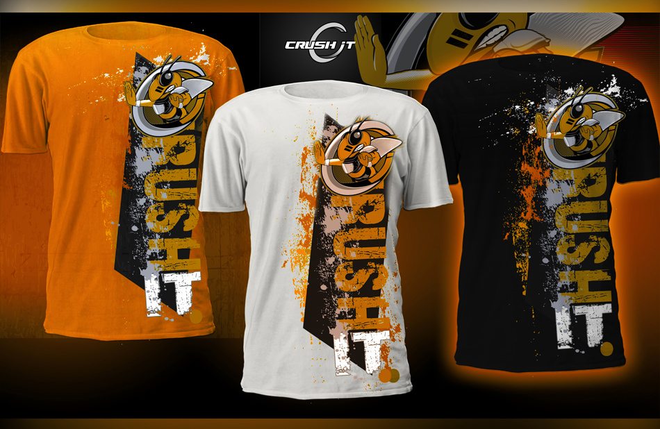 T shirt design for crush it athletic gear print design for Athletic t shirt design ideas
