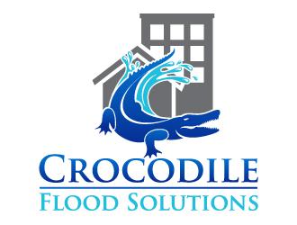 Crocodile Flood Solutions Limited logo design winner