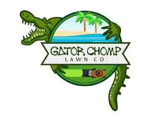 Gator Chomp Lawn Co. logo design