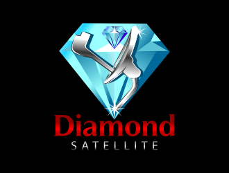 Diamond Satellite logo design