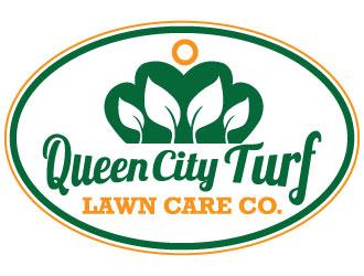 Queen City Turf (Lawn Care Co.) logo design