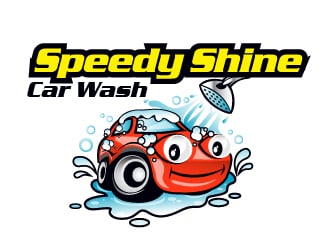 Speedy Shine Car Wash logo design