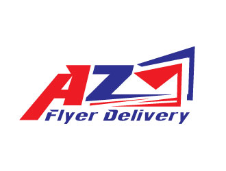 AZ Flyer Delivery logo design