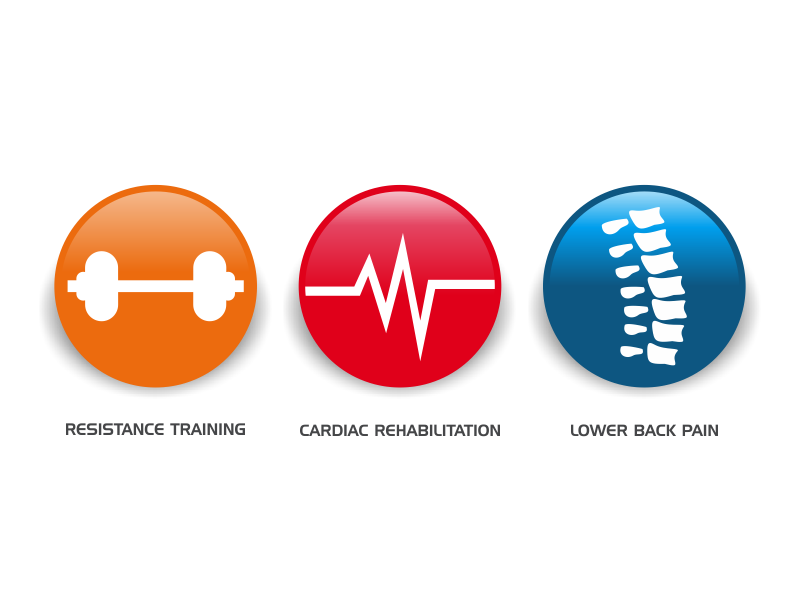 Exercise icon project logo design