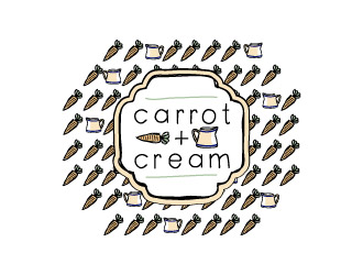 carrot + cream logo design