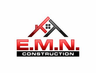 E.M.N. Construction logo design - 48HoursLogo.com