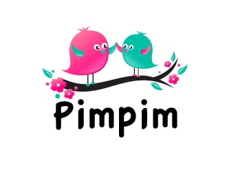pimpim logo design