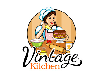 vintage kitchen logo design