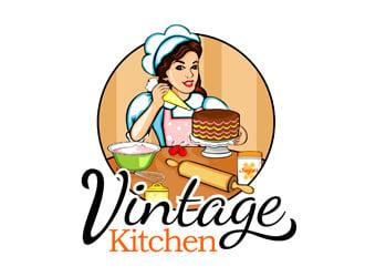vintage kitchen logo design