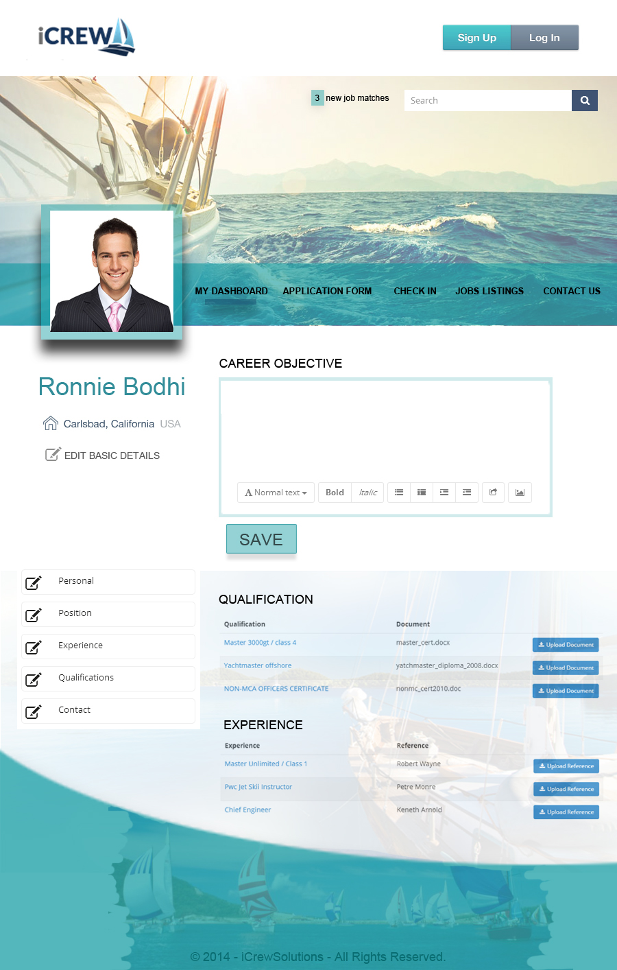 Web page design portfolio by 48hourslogo for Blueprint website design