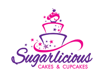 Cake Logo Design Ideas : Temptastions Cake Boutique logo design - 48HoursLogo.com