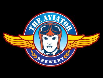 The aviator brewery logo design