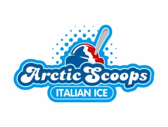 Arctic Scoops Italian Ice logo design