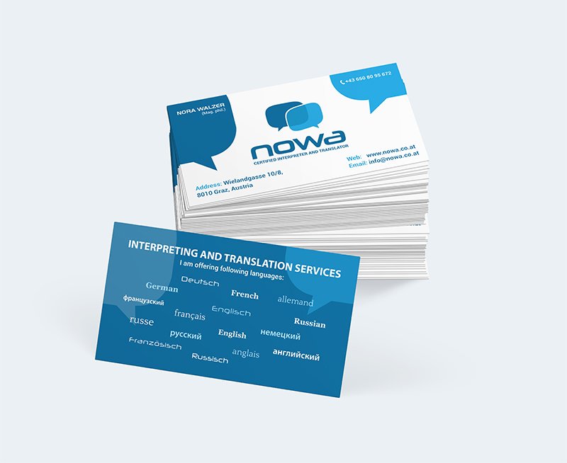nowa interpreting and translation services logo design ...