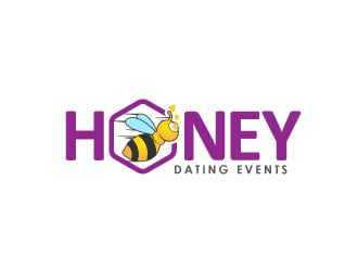 Honey Dating Events logo design