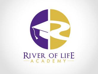 River of Life Academy logo design