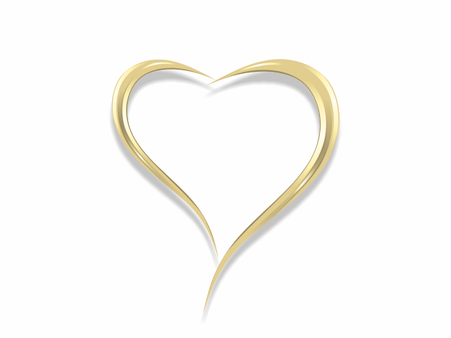 Simple Gold Heart logo design