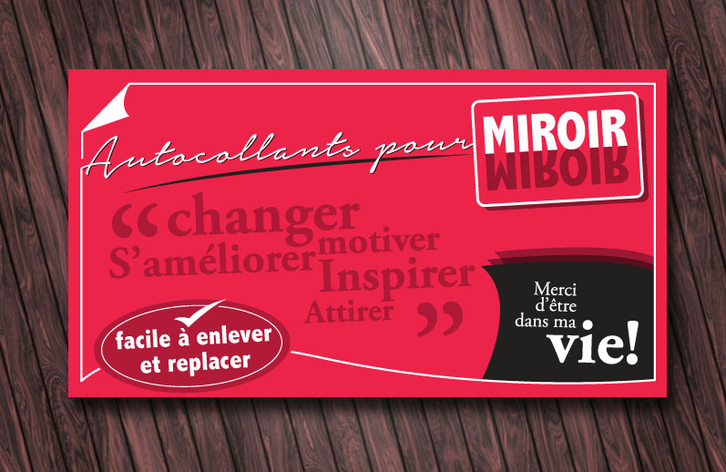 Stickers for miroir print design for Miroir winners
