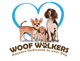 WoofWalkers logo design