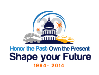 Honor the Past: Own the Present: Shape the Future logo winner