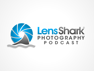 Lens Shark Photography Podcast logo design