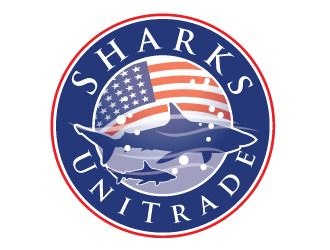 SharksUniTrade logo design