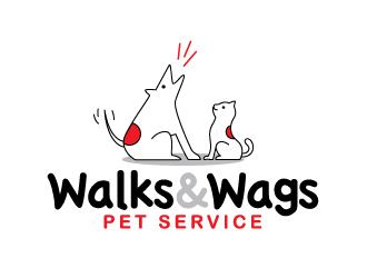 Walks & Wags Pet Service logo design