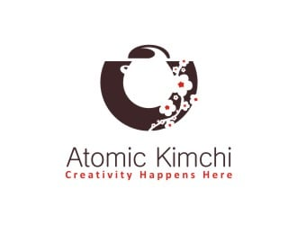 Atomic Kimchi logo design