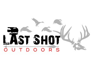 Last Shot Outdoors. Outdoor media productions logo design