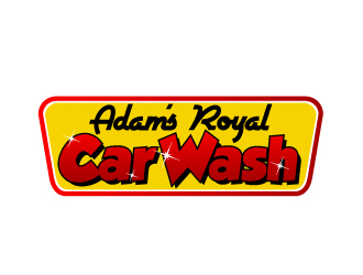 Adam's Royal Car Wash logo design
