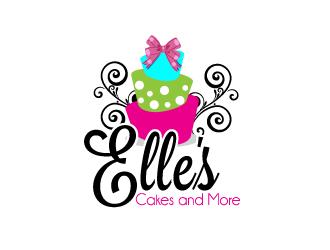 Elle's Cakes and More logo design winner