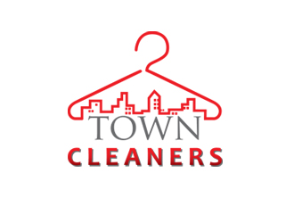 Town Cleaners logo design