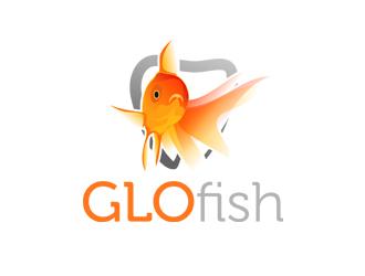 GLO fish logo design
