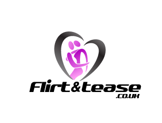 Flirtandtease.co.uk logo design