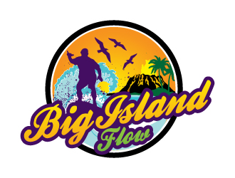 Big Island Flow logo design